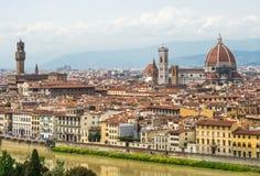 Vue aérienne de Florence Image libre de droits