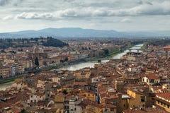Vue aérienne de Florence, Italie Images libres de droits