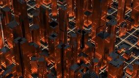 Vue aérienne de fond de paysage urbain rendu 3d illustration stock