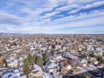 Vue aérienne de Fort Collins photographie stock libre de droits