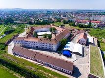 Vue aérienne de forteresse d'Oradea Photo libre de droits