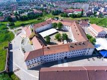 Vue aérienne de forteresse Nagyvarad d'Oradea Images libres de droits