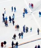 Vue aérienne de foule Tache floue de mouvement Photo libre de droits