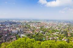 Vue aérienne de Fribourg-en-Brisgau, Allemagne Images stock