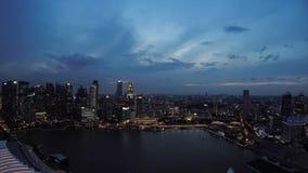 Vue aérienne de grand de ville de Singapour horizon financier de secteur - 25p banque de vidéos