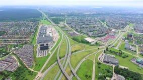 Vue aérienne de grands roadcross banque de vidéos