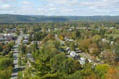 Vue aérienne de Greenfield, le Massachusetts, Etats-Unis Photographie stock libre de droits
