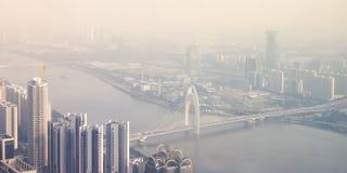 Vue aérienne de Guangzhou Images stock