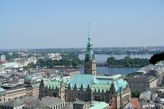 Vue aérienne de Hambourg Photographie stock libre de droits