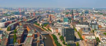 Vue aérienne de Hambourg images stock