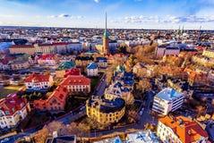 Vue aérienne de Helsinki images libres de droits
