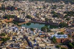 Vue aérienne de Jodhpur, Inde photo stock
