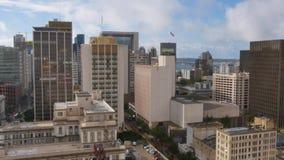 Vue aérienne de jour de San Diego Skyline banque de vidéos
