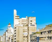 Vue aérienne 18 De Julio Street, Montevideo, Uruguay image stock