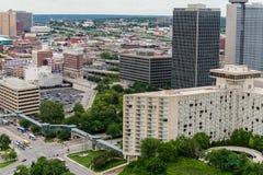 Vue aérienne de Kansas City Missouri photos libres de droits