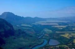 Vue aérienne de Kauai Photos libres de droits