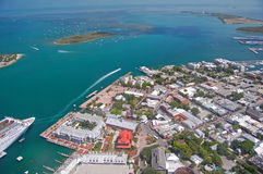 Vue aérienne de Key West Photo stock