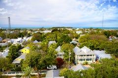 Vue aérienne de Key West Images libres de droits