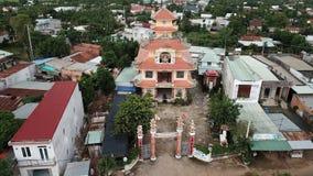 Vue a?rienne de Khanh Tan Pagoda photo stock