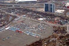 Vue aérienne de Kiev Images libres de droits