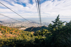 Vue aérienne de Kobe City Photos libres de droits
