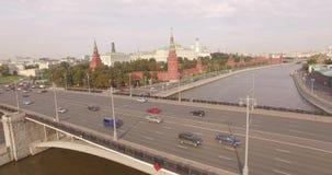 Vue aérienne de Kremlin banque de vidéos