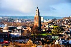 Vue aérienne de l'église de St Anne dans Shandon, liège, Irlande images stock