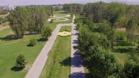 Vue aérienne de l'île dans Pazardzhik clips vidéos