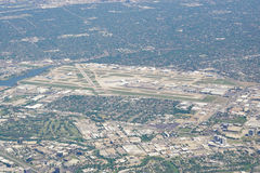 Vue aérienne de l'aéroport de Dallas Love Field (dal) Image libre de droits