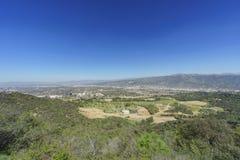 Vue aérienne de l'aera de Burbank Photographie stock