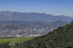 Vue aérienne de l'aera de Burbank Photo libre de droits