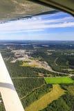 Vue aérienne de l'Alaska de Soldotna sur la péninsule de Kenai Photo stock