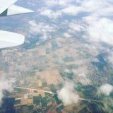 Vue aérienne de l'Allemagne de l'avion Photo libre de droits
