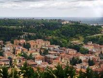 Vue aérienne de l'architecture et des dessus de toit de Vérone, Italie Image libre de droits