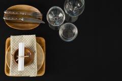 Vue aérienne de l'arrangement élégant de table Photographie stock