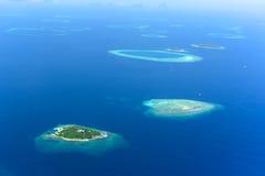 Vue aérienne de l'atoll masculin Photographie stock libre de droits