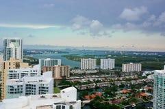Vue aérienne de l'horizon à Miami Photos libres de droits