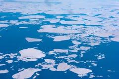 Vue aérienne de l'océan arctique Photographie stock libre de droits