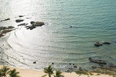Vue aérienne de l'océan au thailnad de plage de Pattaya Images stock