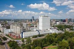 Vue aérienne de l'université d'Erasmus de Rotterdam photographie stock libre de droits