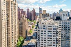 Vue aérienne de la 2ème avenue, côté est de stimulant, Manhattan Photographie stock