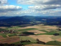 Vue aérienne de la Bohême du sud image stock
