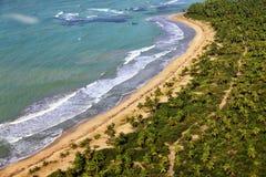 Vue aérienne de la côte Photo stock