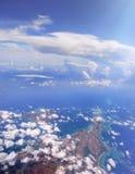 Vue aérienne de la côte d'une île au Japon photo libre de droits