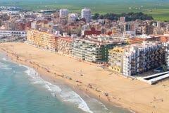 Vue aérienne de la côte espagnole Image libre de droits