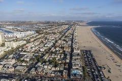 Vue aérienne de la Californie de plage de Venise Photos libres de droits