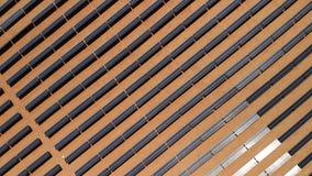 Vue aérienne de la centrale solaire située dans l'Arizona, stat unie photo stock