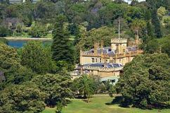 Vue aérienne de la Chambre de gouvernement en Sydney Australia photographie stock