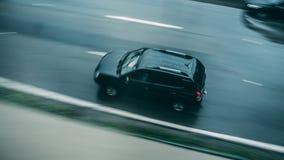 Vue aérienne de la conduite sur la route Photos libres de droits