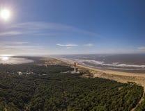 Vue aérienne de La Coubre de phare en La Tremblade, Charente maritime photos stock